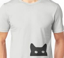 black cat retro Unisex T-Shirt