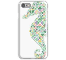 Nautical Seahorse pastel spring colours  iPhone Case/Skin