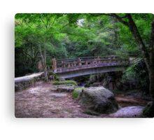 Bridge on Miyajima Canvas Print