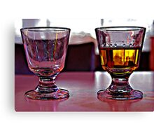 Two Drinks. Canvas Print