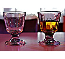 Two Drinks. Photographic Print