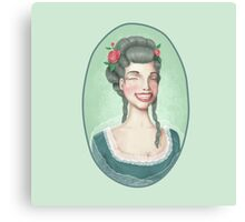 Vintage-style girl Canvas Print