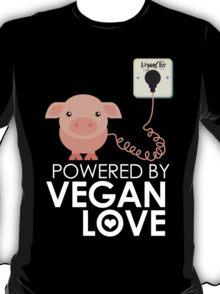 VeganChic ~ Powered By Vegan Love T-Shirt