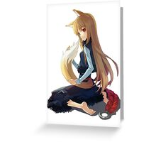 Spice & Wolf - Horo Greeting Card