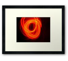 Orange Overlap Framed Print