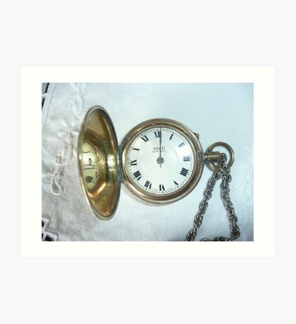 Old Fob Watch with Chain. Art Print