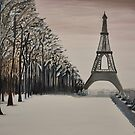 """""""Parisian Winter"""" a walk in the park by bkm11"""