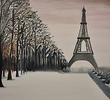 """Parisian Winter"" a walk in the park by bkm11"