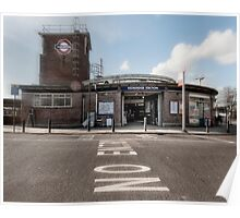 Redbridge Tube Station Poster