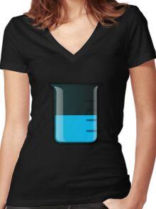 Beaker Science Women's Fitted V-Neck T-Shirt