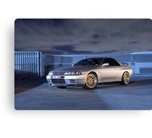Silver Nissan R32 Skyline GTR #3 Canvas Print