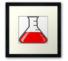 Flask Science Framed Print