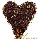 Tea Shaped Heart Valentine by Pamela Maxwell