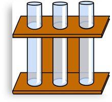 Chemistry Tubes Canvas Print