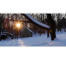 Ephrata Cloister in Winter Photographic Print