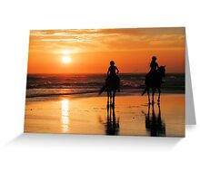 Sunset Riders Greeting Card