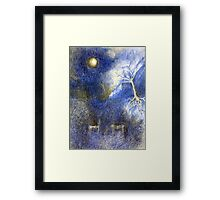 In Night On Meadow Framed Print