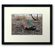 old ship the shipwreck Framed Print