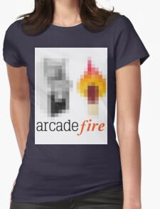 PixelRock: Arcade Fire Womens Fitted T-Shirt