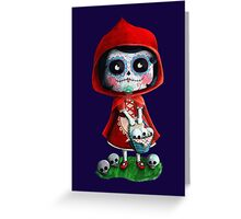 Dead Red Riding Hood Greeting Card