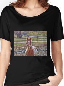 Friendly Farm Horse Women's Relaxed Fit T-Shirt
