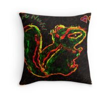 Chippy The Squirrel Throw Pillow