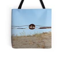 barrier on the road to heaven Tote Bag