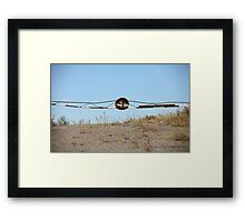 barrier on the road to heaven Framed Print