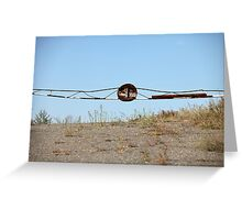 barrier on the road to heaven Greeting Card