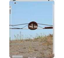 barrier on the road to heaven iPad Case/Skin