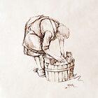 The Washerwoman by Pieter  Zaadstra