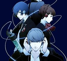 Persona 4 - Yu, Yosuke, Rise & Naoto by Whitedark