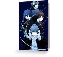 Persona 4 - Yu, Yosuke, Rise & Naoto Greeting Card
