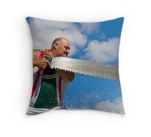 Big Saw - Big Man Throw Pillow