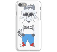 Raccoon OMG Design iPhone Case/Skin