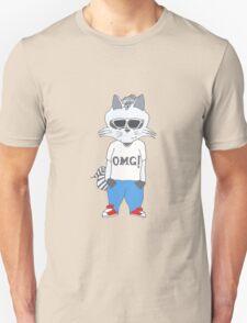 Raccoon OMG Design Unisex T-Shirt