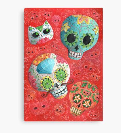 Colourful Sugar Skulls Canvas Print