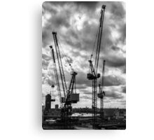 Tower Cranes on City of London Skyline Canvas Print