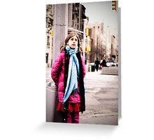 Cold in New York Greeting Card