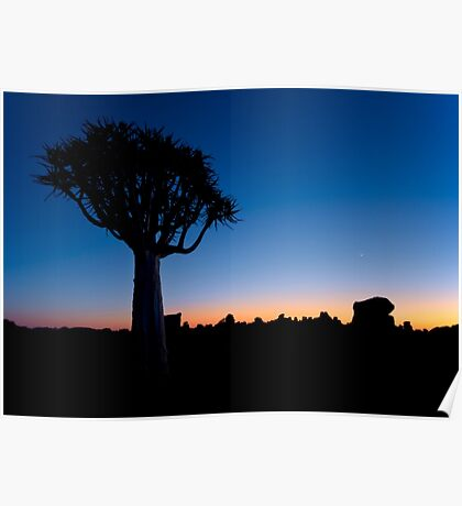 The Blue Hour - Namibia Africa Poster