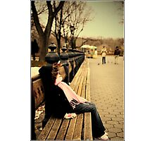 Chill-in in Central Park Photographic Print