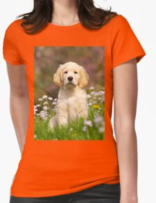 Goldie Puppy Womens Fitted T-Shirt