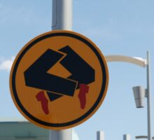 Pedestrians doing quick step Sticker