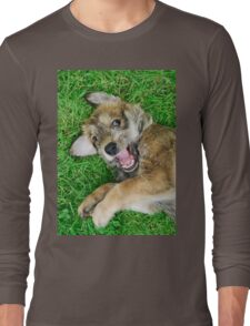 - Giggle - Berger Picard puppy Long Sleeve T-Shirt