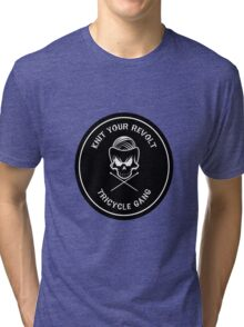 Knit Your Revolt Tricycle Gang 2 Tri-blend T-Shirt