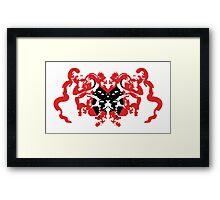 Batwoman Abstract Framed Print