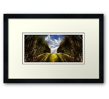 """What's that coming over the hill?? Is it a monster?!.... Is it a monster?!!!"" (Hitchin Landscape) Framed Print"