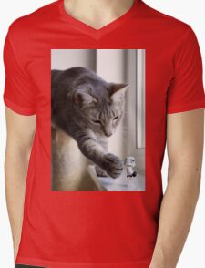 It's behind you! Mens V-Neck T-Shirt