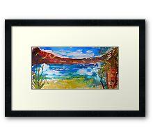 Outback Waterhole  Framed Print