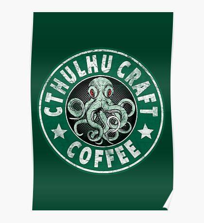 Cthulhu Craft Coffee Poster